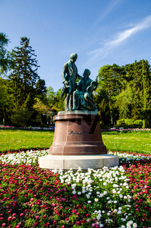 Monument to the great Austrian composers Lanner and Strauss in Baden near Vienna. Austria