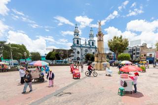 twenty July square and San Felipe Neri churc Ipiales Colombia