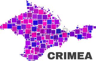 Mosaic Crimea Map of Square Items