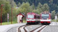 Zell am See/Austria - 2019-Oct-03: Trains of Pinzgau local railroad (editorial)