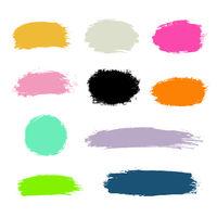 Hand drawn paint strokes.