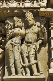 PARSVANATH TEMPLE, Wall sculptures - closeup, Eastern Group, Khajuraho, Madhya Pradesh, UNESCO World Heritage Site
