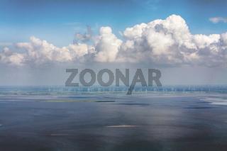 Luftbild vom Schleswig-Holsteinischen Nationalpark Wattenmeer