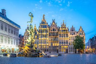 Guildhalls of Grote Markt of Antwerp in Belgium
