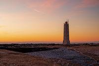 Malarrif lighthouse at sunset, Iceland