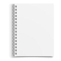 Mockup white notebook