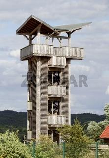 Beobachtungsturm Eiswachhaus, Stützkow, Brandenburg, Uckermark, Ostdeutschland