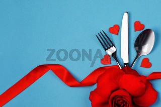 Cutlery set and hearts