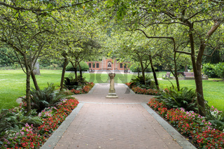 Shakespeare Garden in the Golden Gate Park, San Francisco, California, USA.
