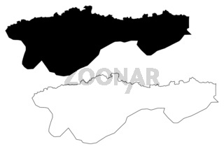 Oddar Meanchey Province (Kingdom of Cambodia, Kampuchea, Provinces of Cambodia) map vector illustration, scribble sketch Oddar Meanchey map