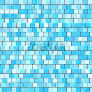 ceramic blue mosaic background seamless texture in swimming pool or kitchen