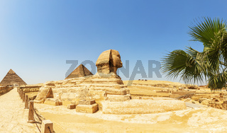 The Great Pyramids and the Great Sphinx panorama, Egypt