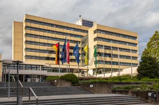 Sindelfingen, Baden Wurttemberg/Germany - May 11, 2019: View on municipal Cityhall Building, Stadtverwaltung.