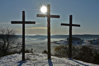 Three Crosses on the Kornbühl, Swabian Alb, Germany
