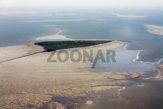 Hallig Südfall, Luftbild vom Schleswig-Holsteinischen Nationalpark Wattenmeer