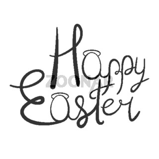 Happy Easter lettering.