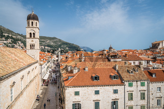 Church tower in Dubrovnik Old Town