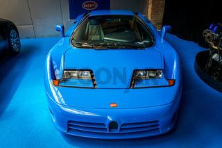 A sports car Bugatti EB 110 GT.