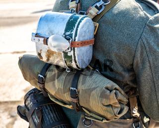Retro soldier equipment of German Army uniform
