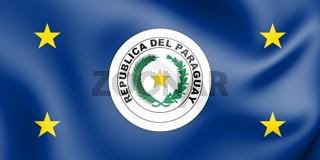 3D Standard of President of Paraguay. 3D Illustration.
