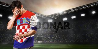 sad Croatia player