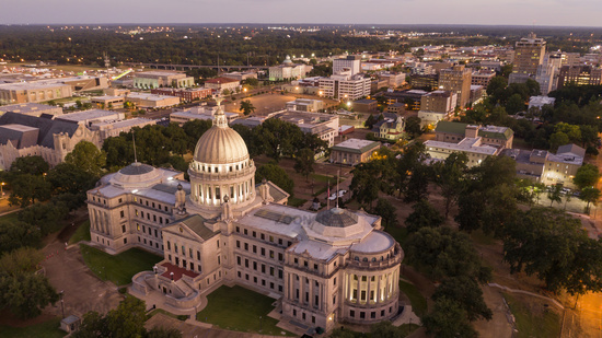 Capitol State House Downtown City Center Jackson Mississippi USA