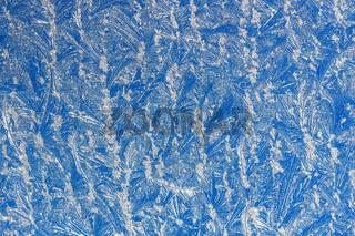 Window frost. Frostwork.