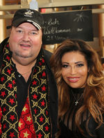 Entertainer Andreas Ellermann with girlfriend Patricia Blanco at the erotic fair Venus Berlin 2019