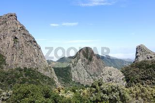 Naturdenkmal Los Roques auf der kanarischen Insel La Gomera