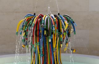 garden hose fountain