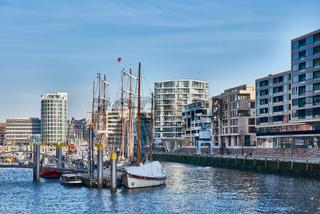 Tourists visit marina of new harbor city