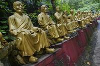 Statues at Ten Thousand Buddhas Monastery in Sha Tin