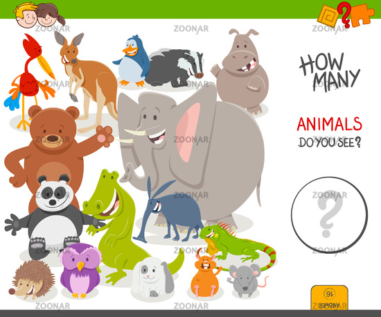 count the animals educational game for children