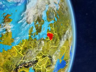 Lithuania on planet Earth