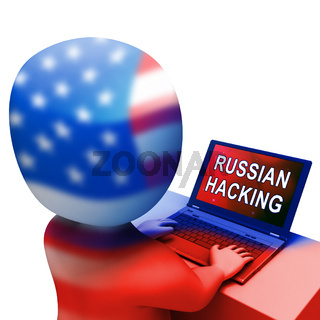 Election Hacking Russian Espionage Attacks 3d Illustration