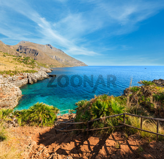 Sea bay in Zingaro Park, Sicily, Italy