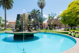 Chile La Serena fountain sculptures in public gardens