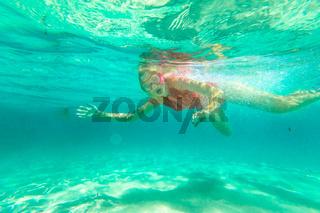 Woman snorkeler in Australia