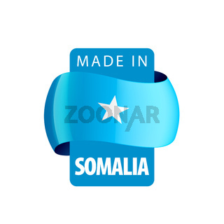 Somalia flag, vector illustration on a white background