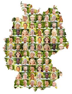 Outdoor Portrait Collage auf Deutschland Karte